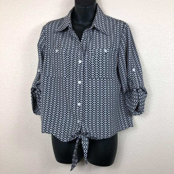 f8460f62415f70 Ellen Tracy Tops | Black And White Shirt Size S | Poshmark
